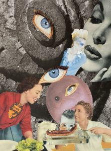 The Women's Institute ..analogue collage 20 x 25cm