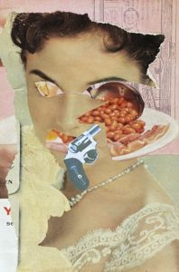 Tatters ..analogue collage 30 x 35cm