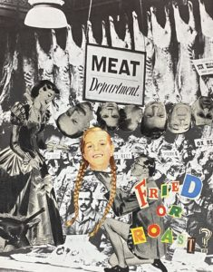 Roasted or Fried? ..analogue collage 25 x 20cm