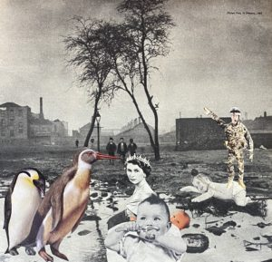 The Christmas Story ..analogue collage 25 x 20cm