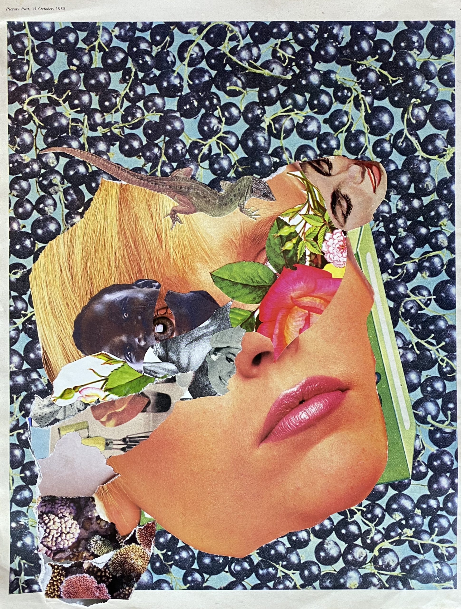 I loved you then ..analogue collage 30 x 35cm
